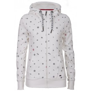 Damen Sweatjacke Alloverprint