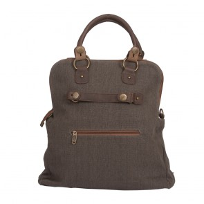 Premium Shopper Tasche | Canvas & Leder | 6063