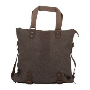 Premium Shopper Tasche | Canvas & Leder | 9958